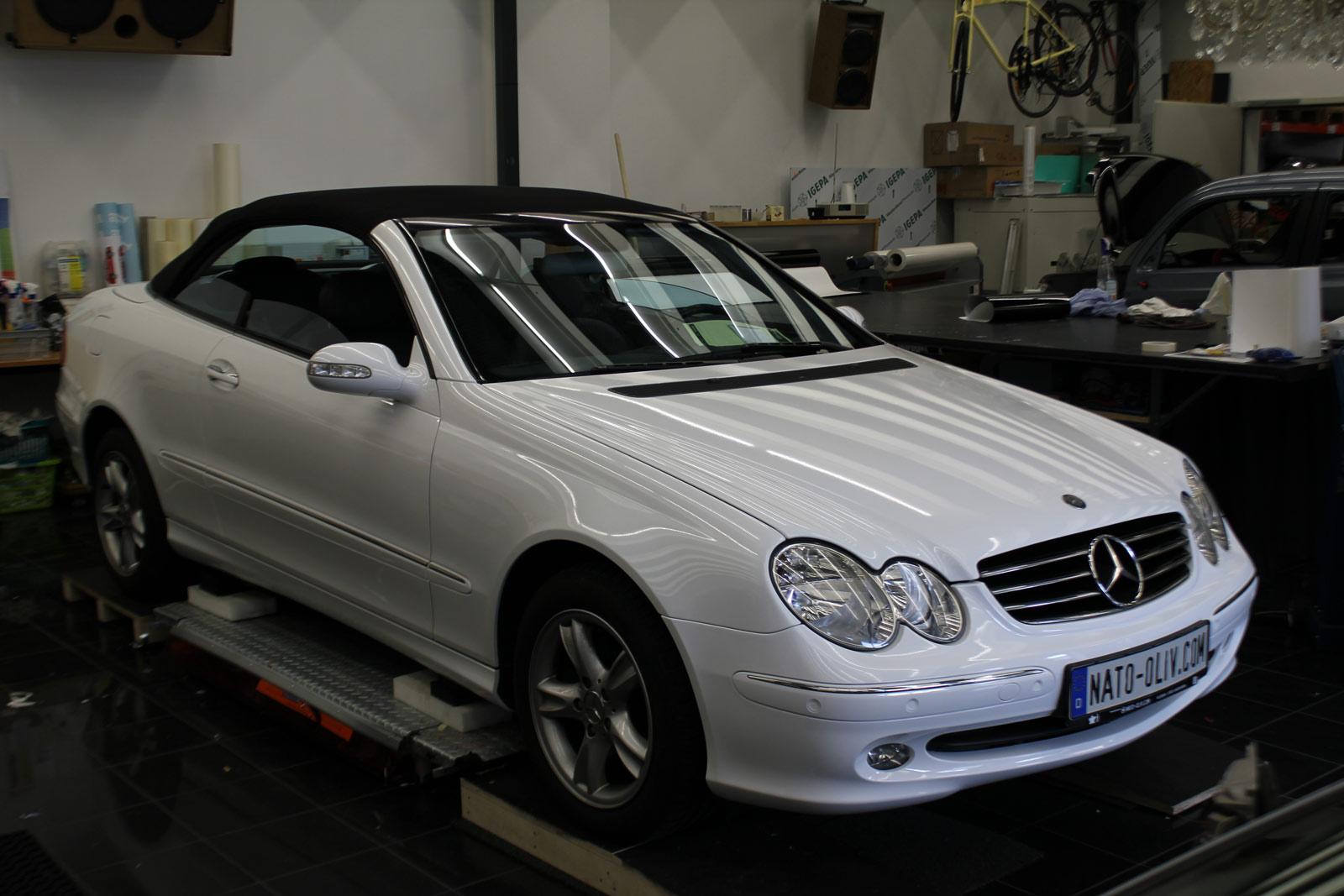 Mercedes_CLK_Cabrio_Folierung_Weiss__Glanz_04