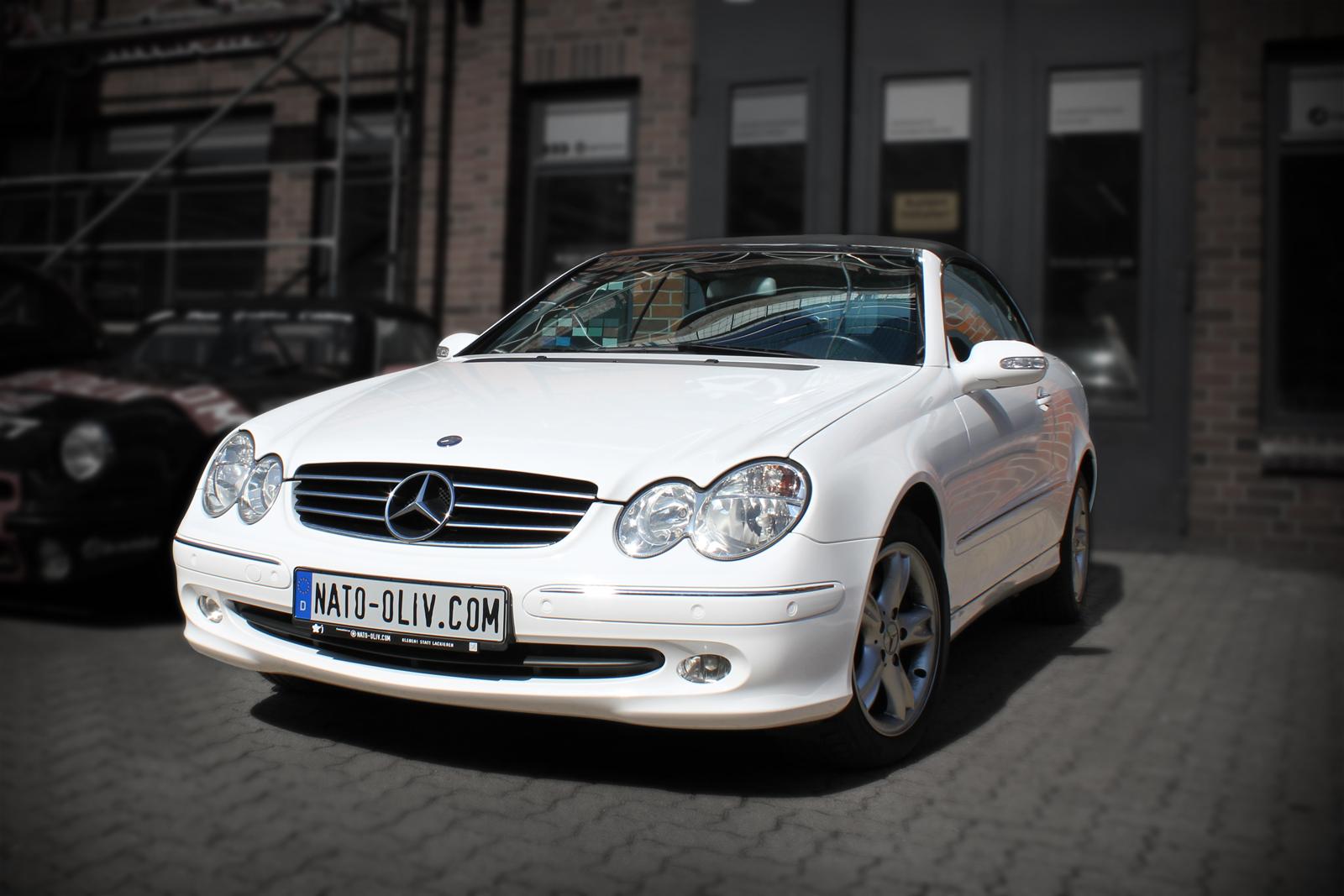 Mercedes_CLK_Cabrio_Folierung_Weiss__Glanz_Titelbild