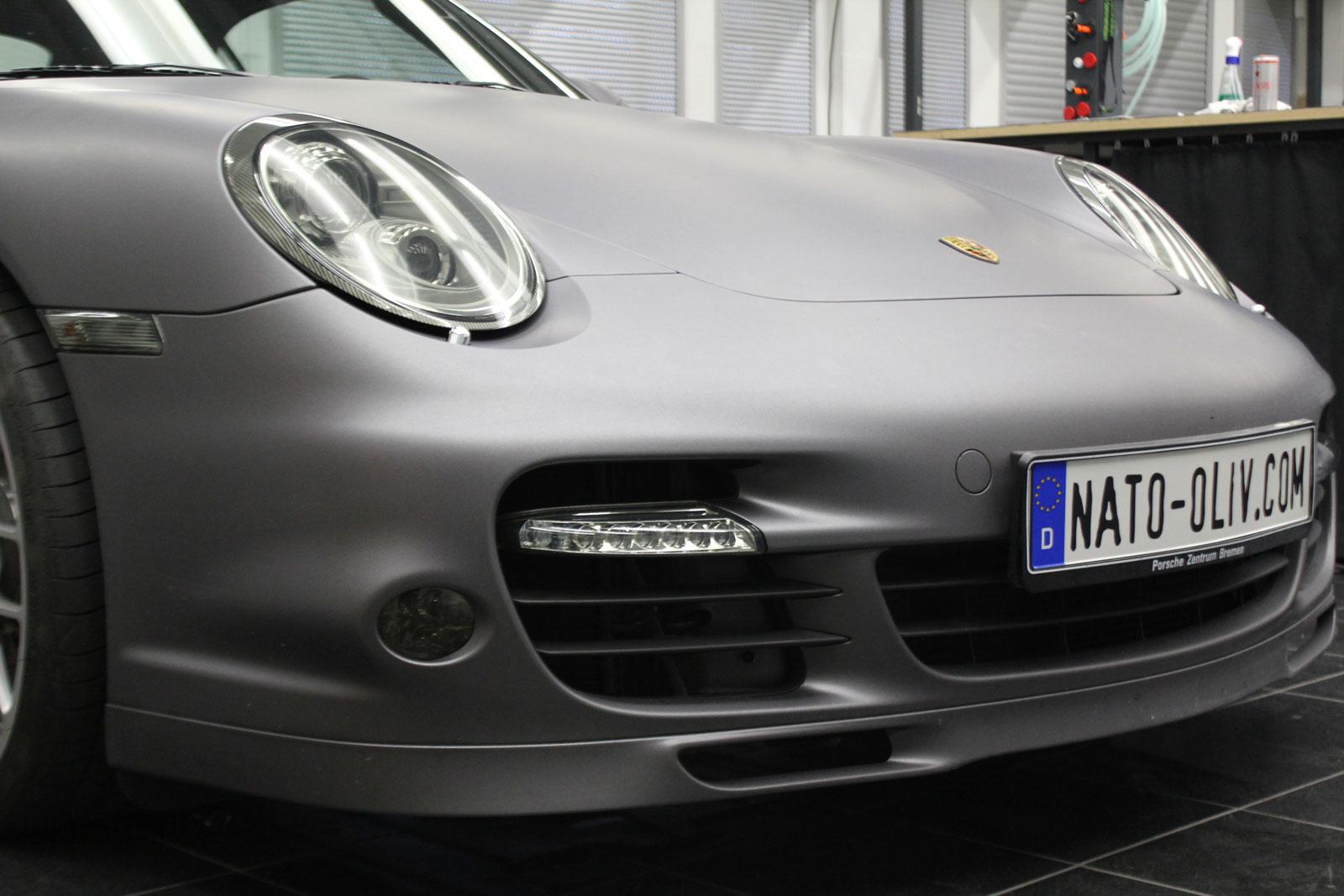 Scheinwerfer Tönungfolie bei einem Porsche Turbo S.