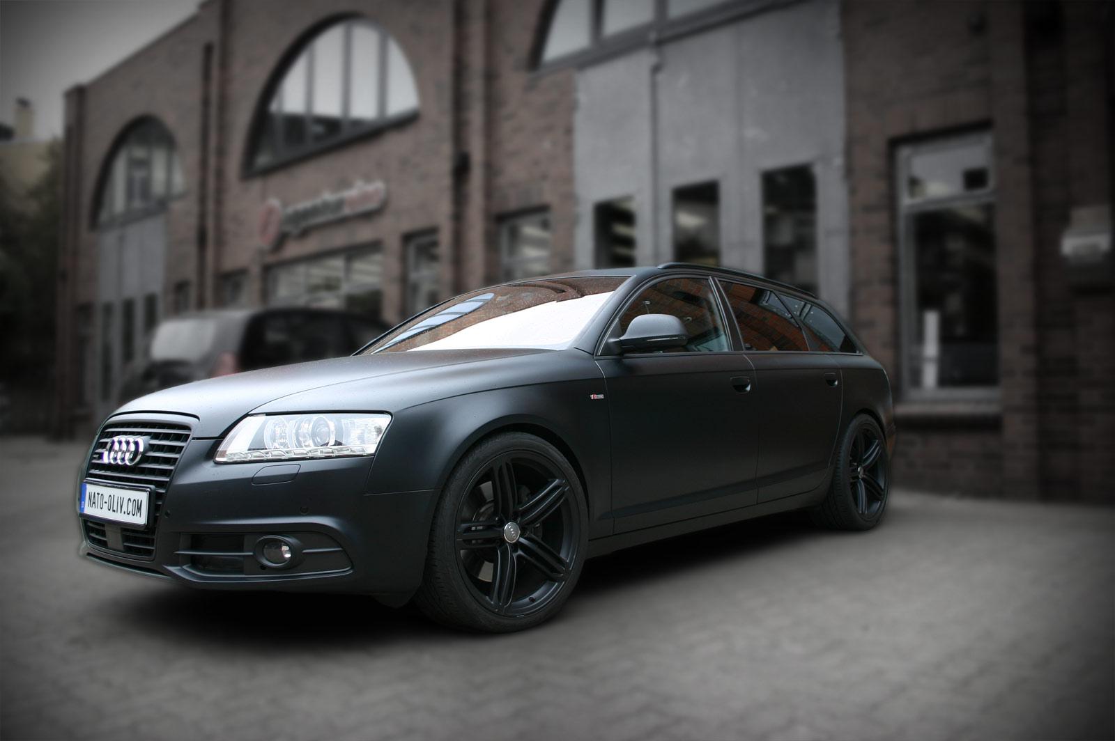 SCHEIBENTOENUNG_Audi-A6-Avant-matt-schwarz