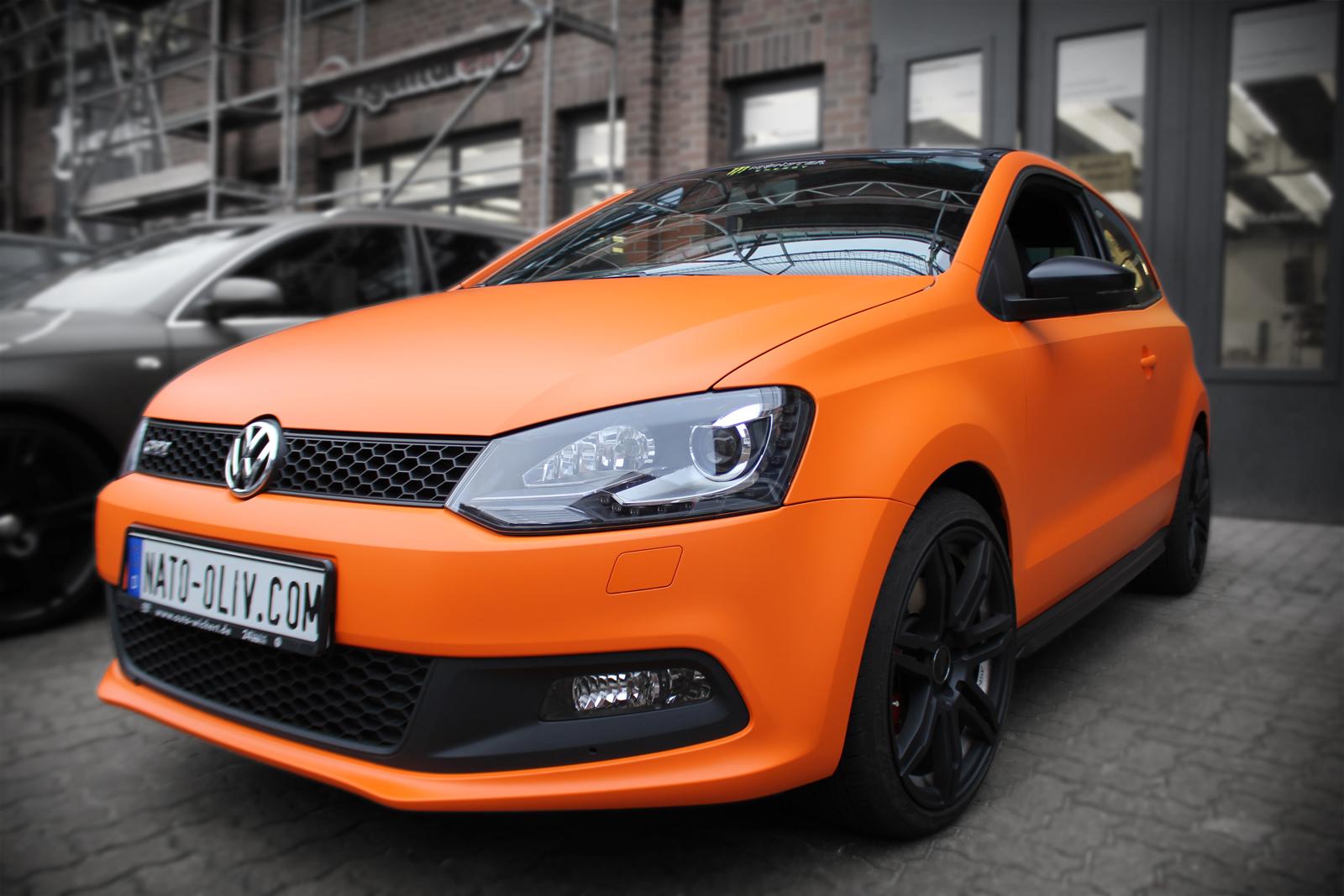 Orange matt folierter VW Polo GTI