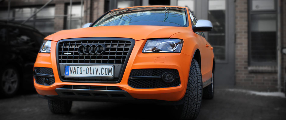 Audi Q5 in orange matter Folie