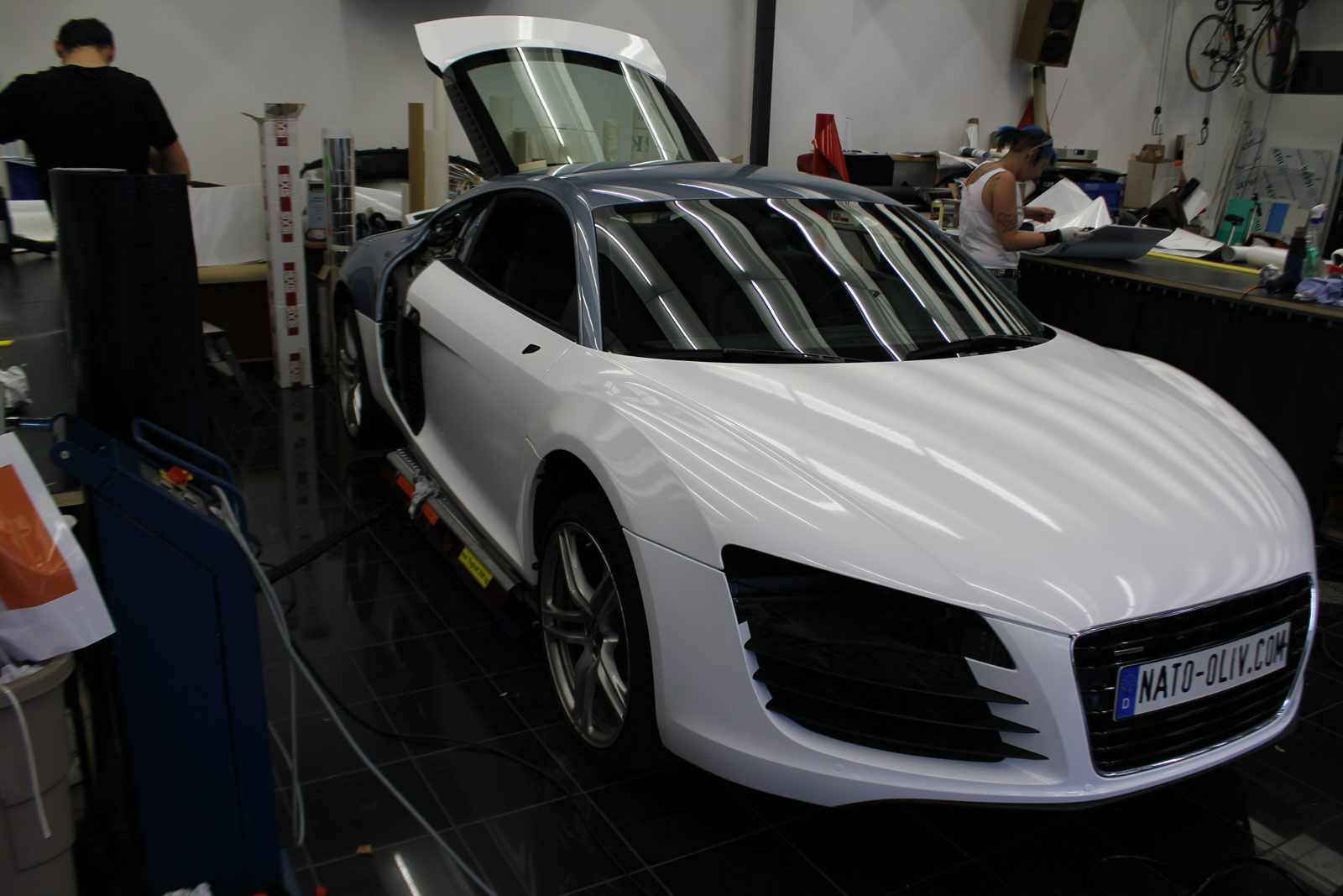 Audi_R8_Folierung_Weiß_Glanz_Union_Jack_Flagge_13