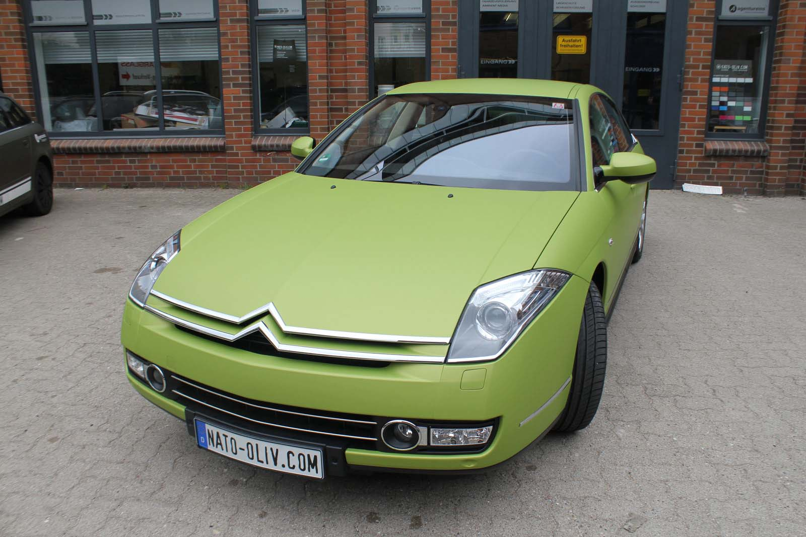 Citroen_C6_Folierung_Gruen_Matt_Metallic_03