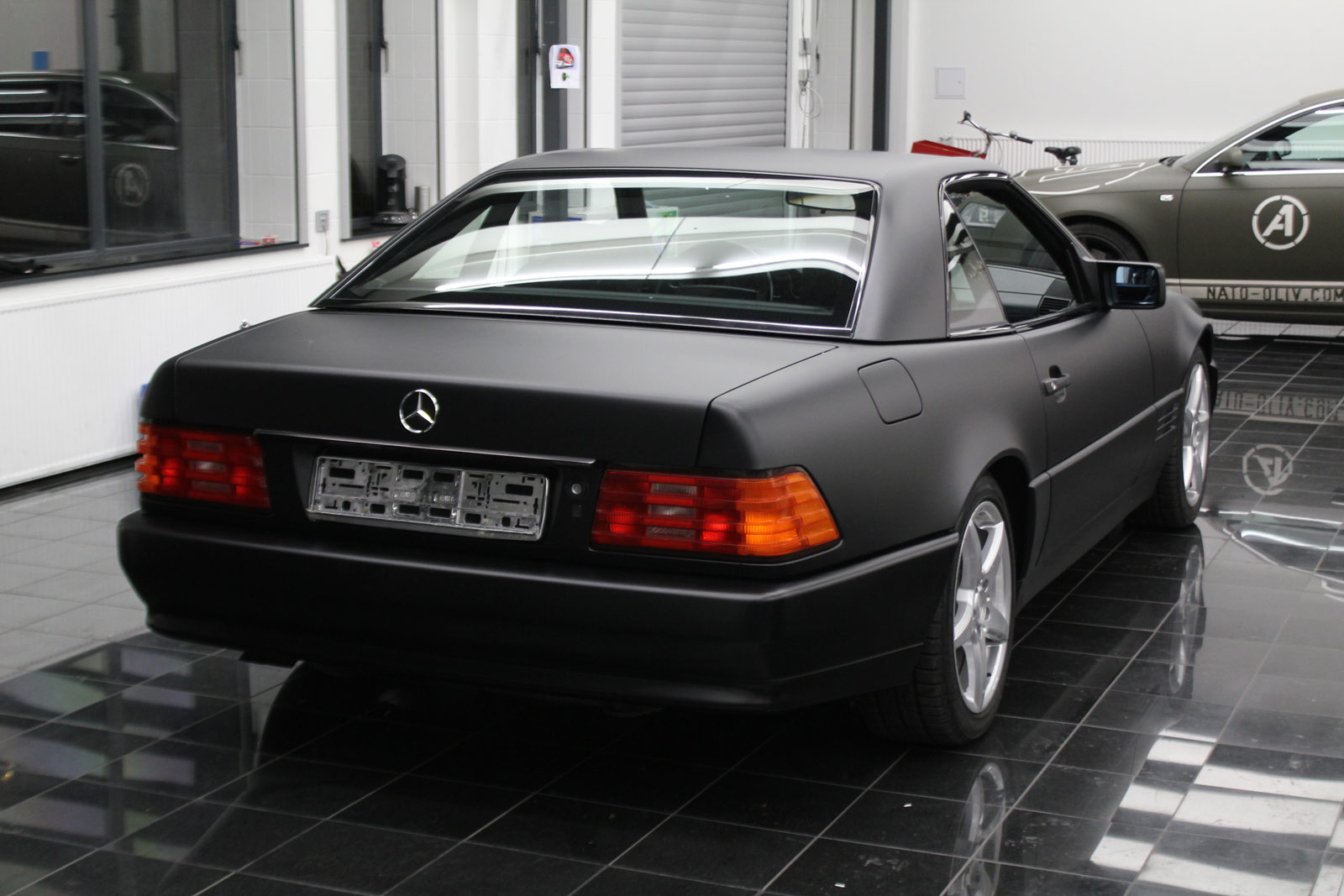 Mercedes_SL_Folierung_Schwarz_Matt_51