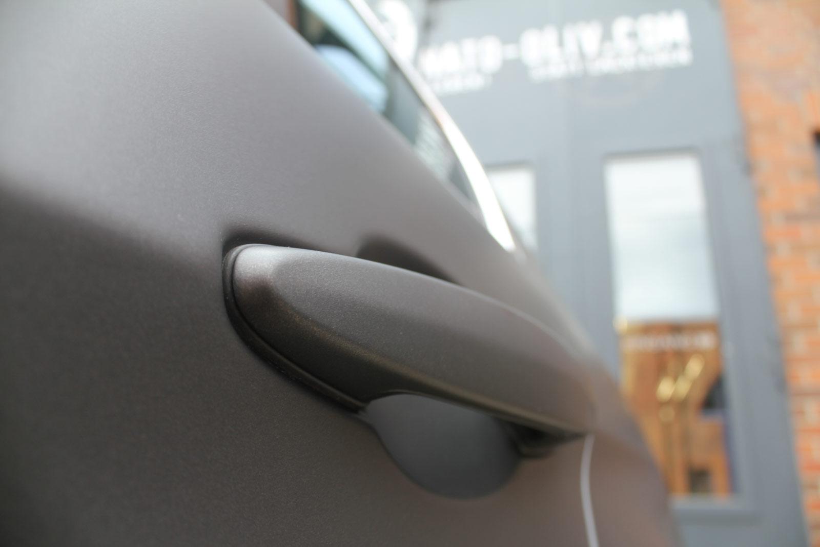 Auto Folierung Car Wrapping BMW 3er Schwarz Braun Matt Metallic Teilfolierung