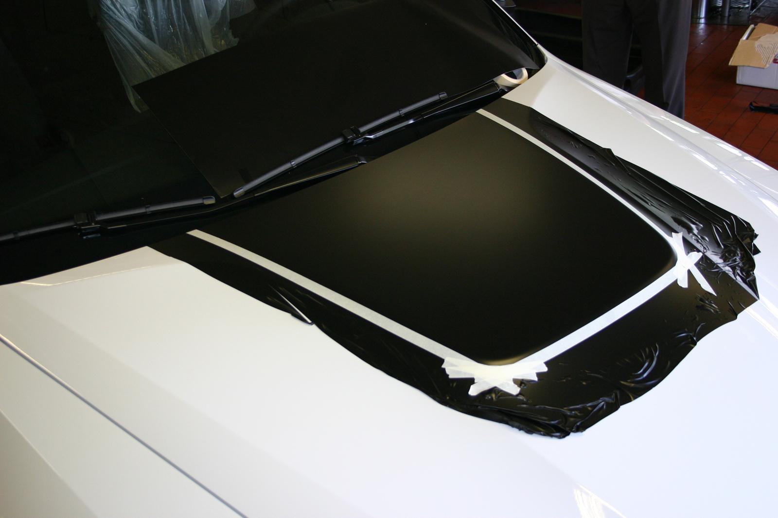 BMW X6 Teilfolierung Lufthutze schwarz matt