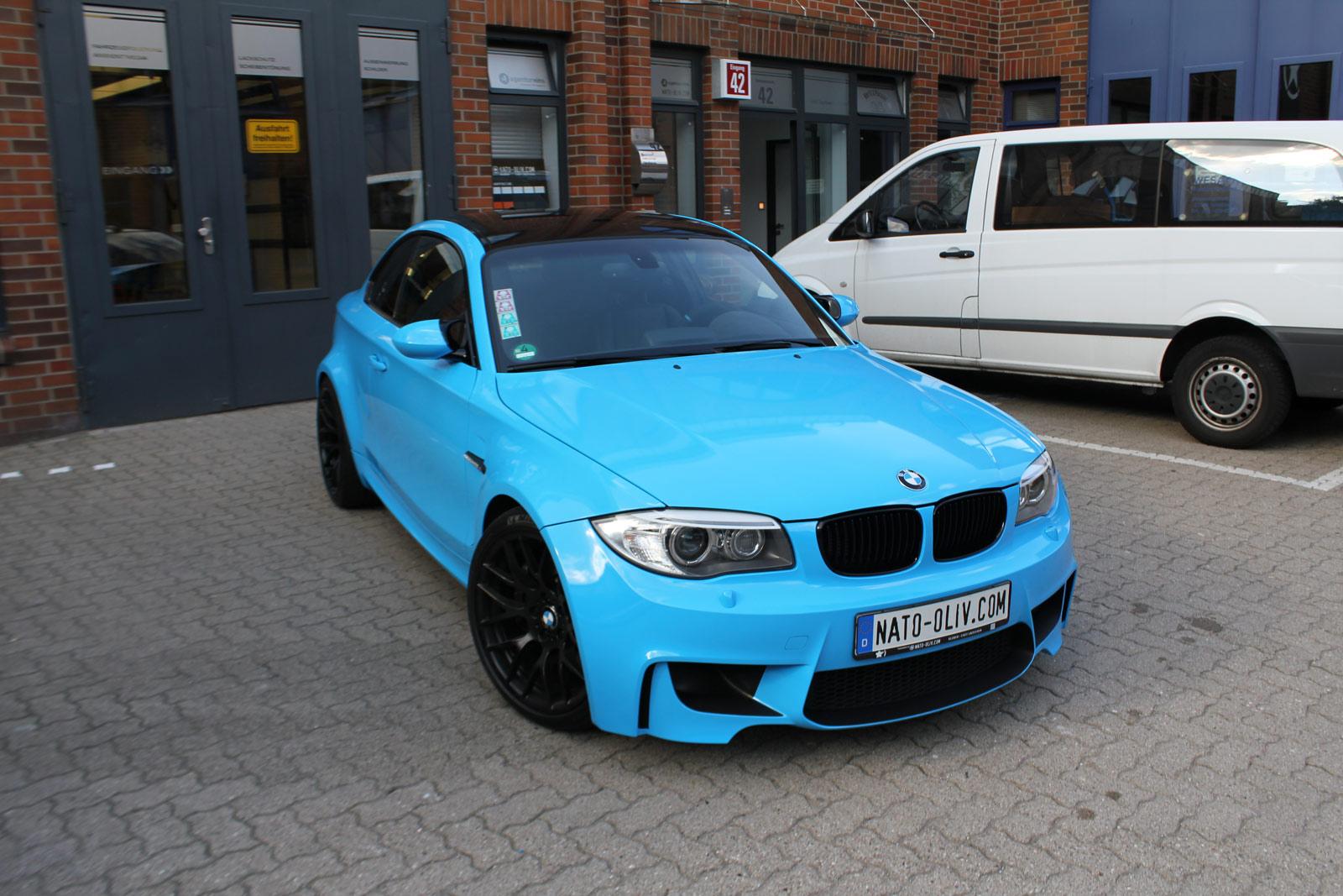 Bmw 1er M Coup 201 In Light Blue Mit Schwarz Matten Extras