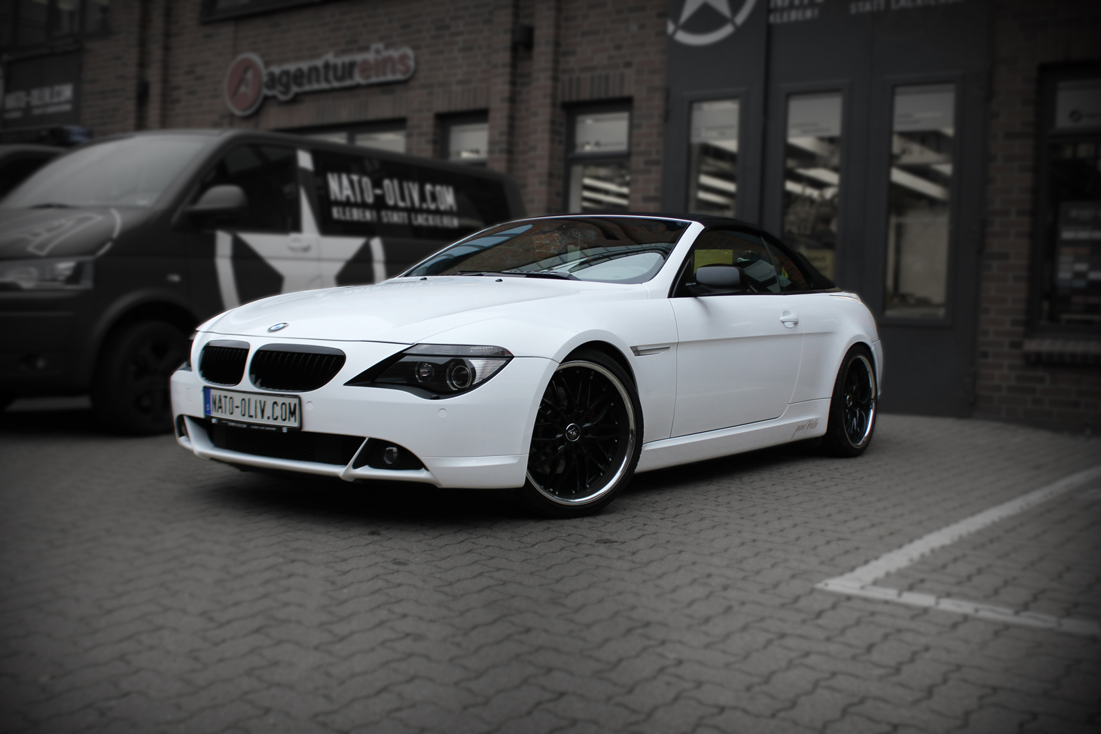 bmw 6er 45 cabrio in weiss glanz nato. Black Bedroom Furniture Sets. Home Design Ideas