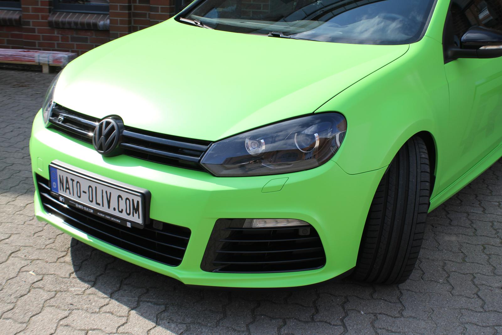 Car Wrapping Auto Folierung VW Golf R Giftgrün