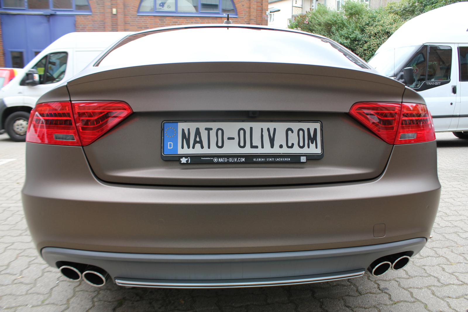 Car Wrapping Auto Folierung Audi S5 Braun Matt Metallic