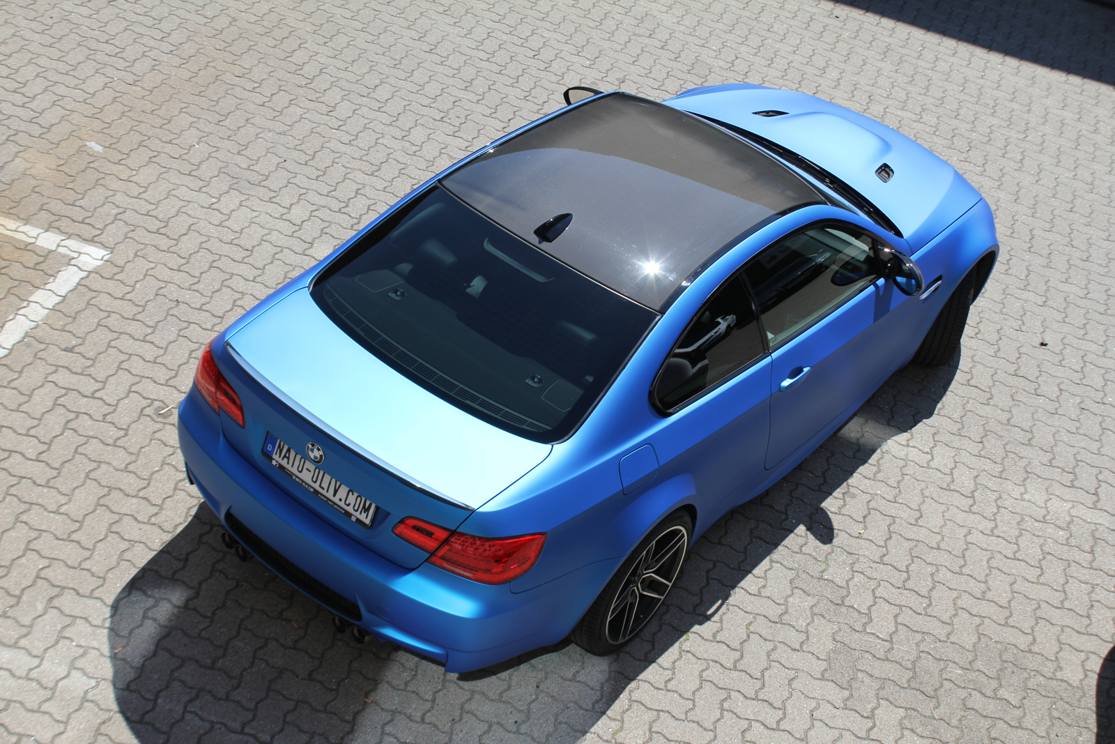 Car Wrapping Auto Folierung BMW M3 Aluminium Blue Metallic Matt
