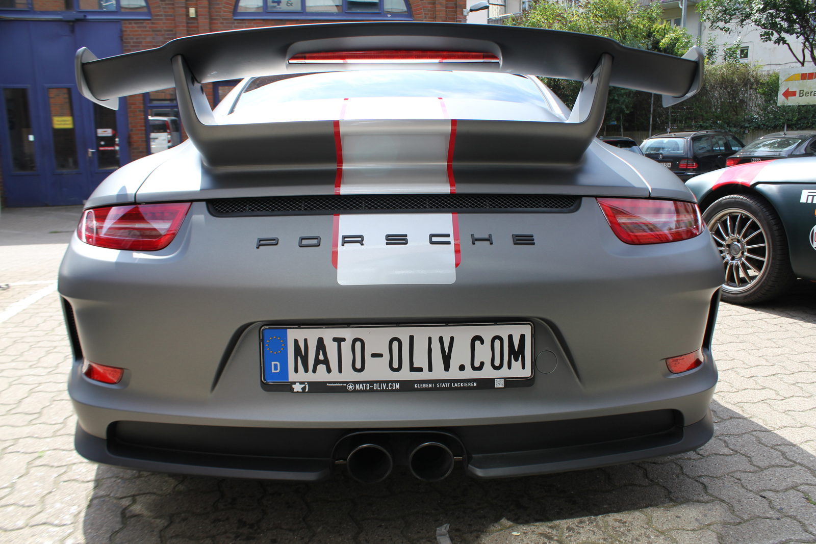 Car Wrapping Auto Folierung Porsche GT3 Gunmetal Matt Metallic