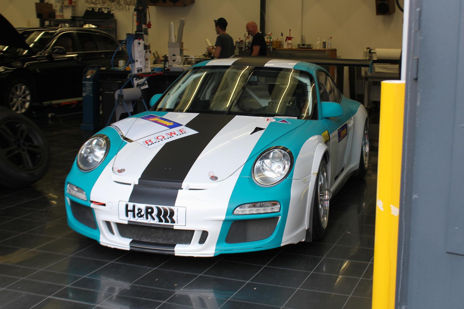 Auto Folierung Car Wrapping Porsche GT3 CUP