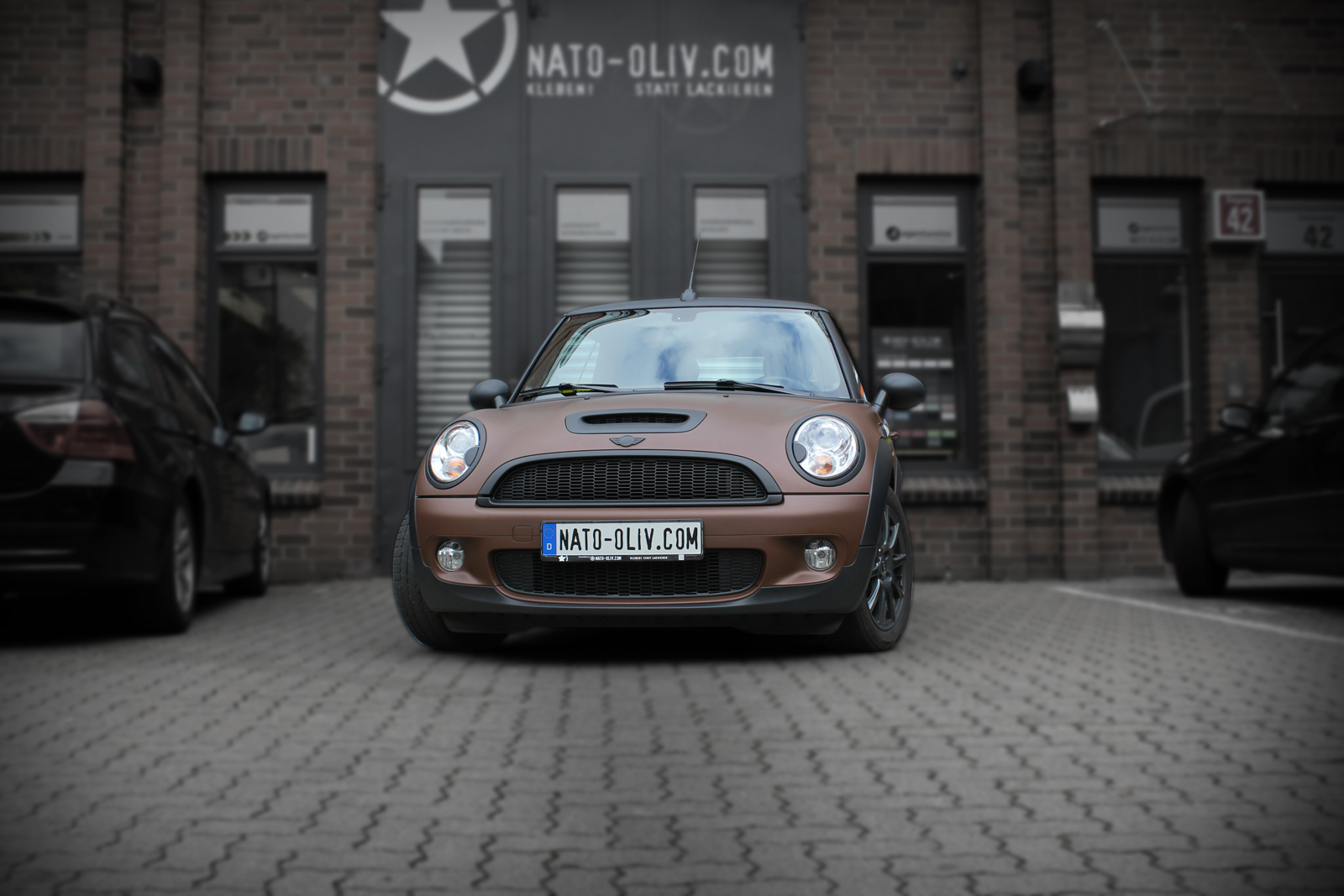 Auto Folierung Mini Cooper S Cabrio Car Wrapping