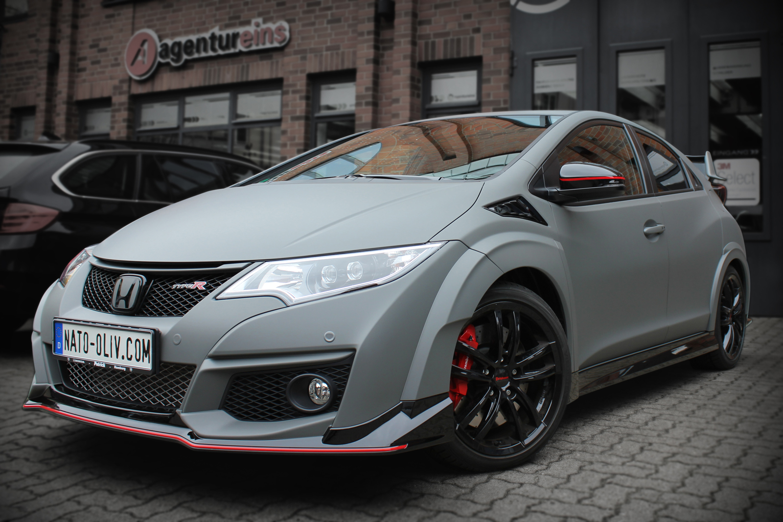HONDA_CIVIC_TYPE-R_CAR_WRAPPING_GRAU_MATT_TITELBILD