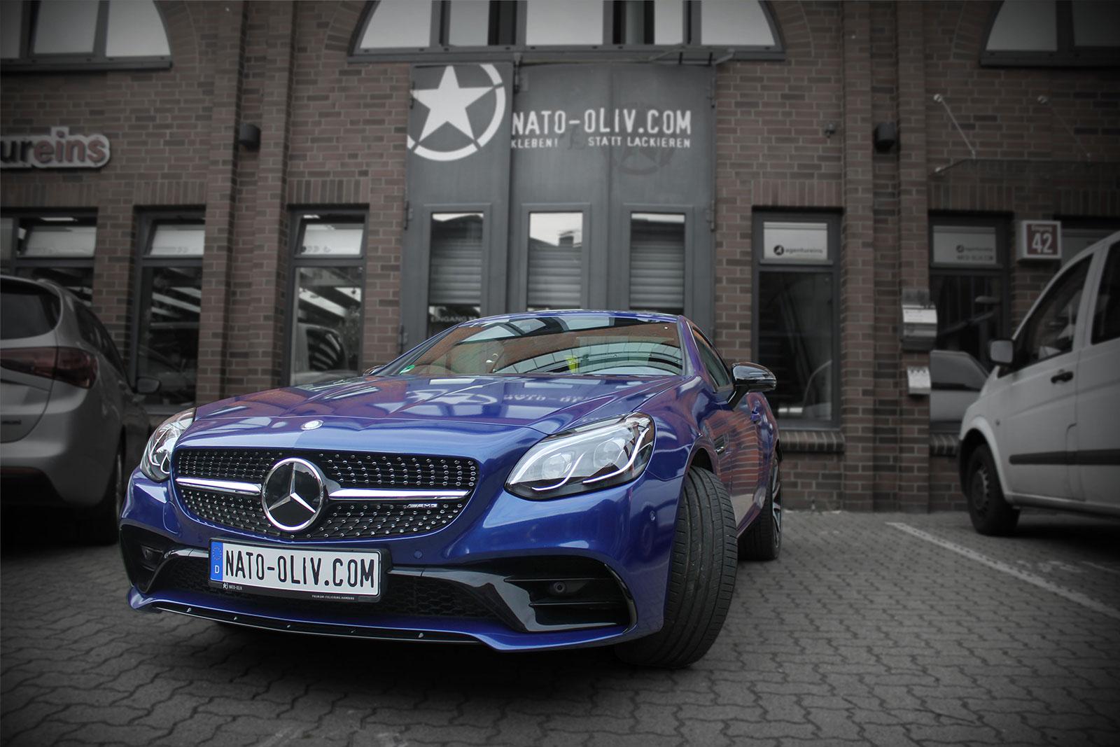 Mercedes-SLC-43-AMG-Silber-auf-Blau-3M-G217-Premium-plus