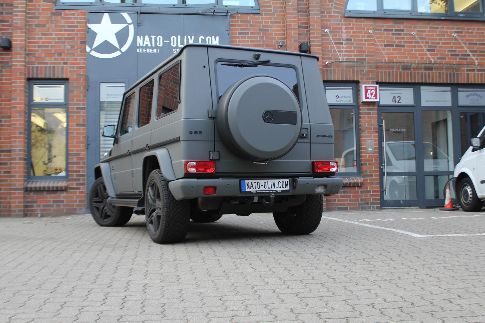Car Wrapping Auto Folierung Mercedes G63 Dark Grey Matt