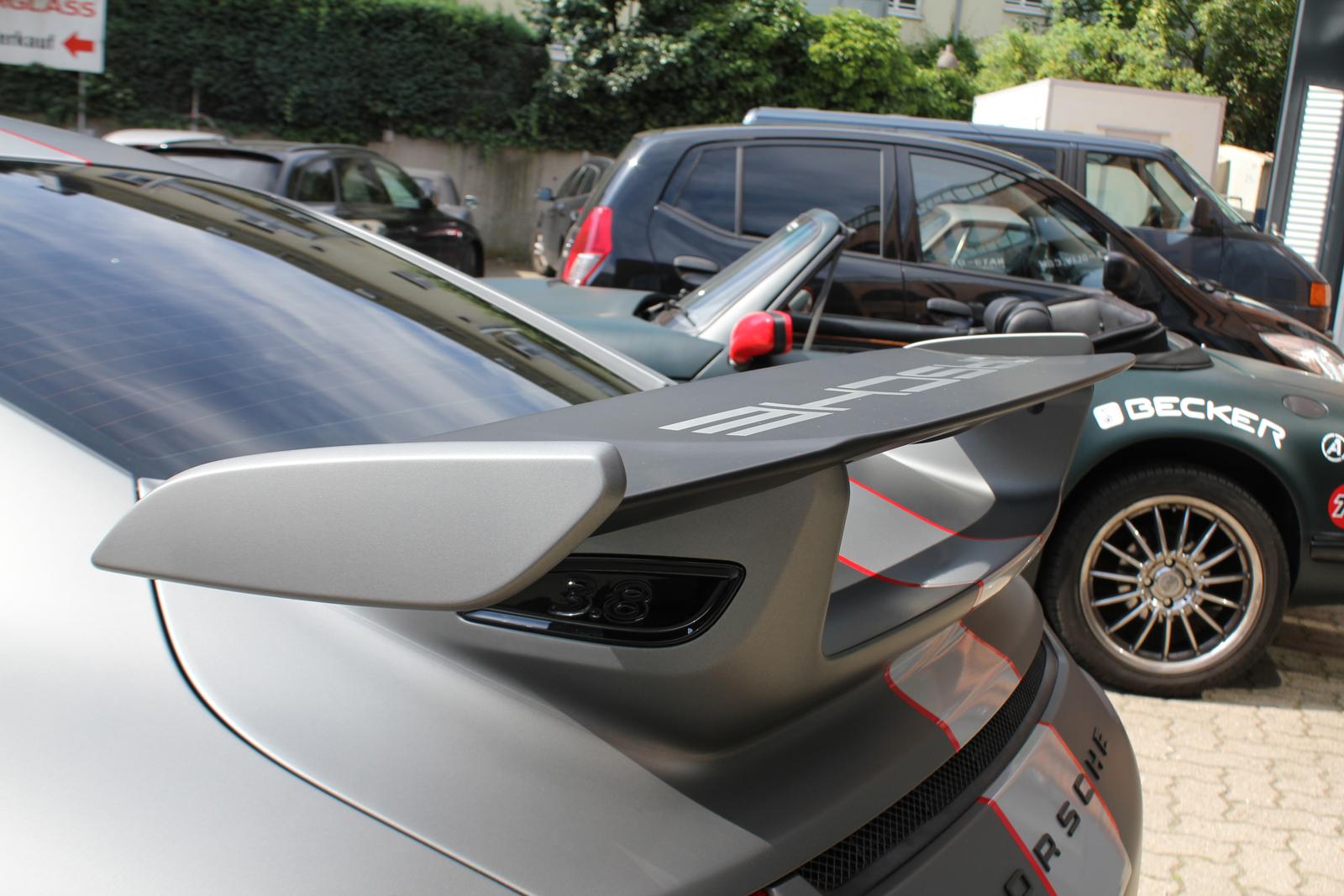 Car Wrapping Auto Folierung Porsche GT3 Gunmetal Matt Metallic
