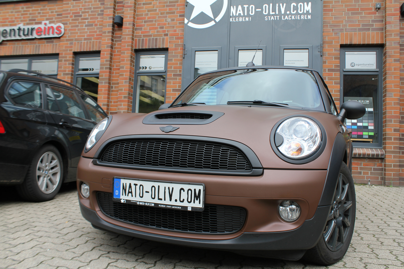 Car Wrapping Mini Cooper S Cabrio Auto Folierung