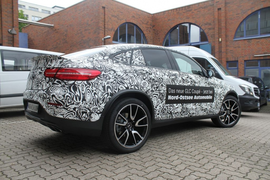 Mercedes GLC Coupé 3M 480MC Latex Digitaldruck-Vollfolierung Erlkönig Hamburg
