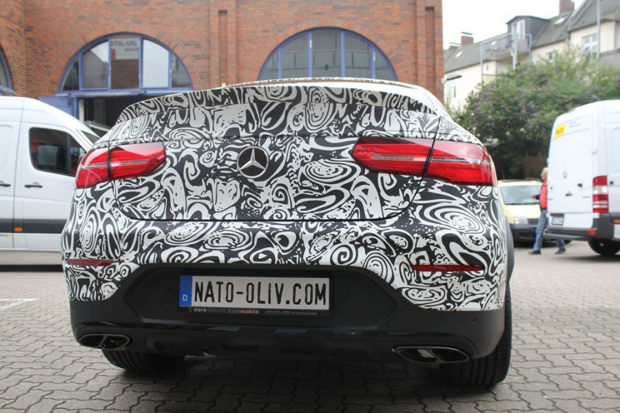 Mercedes GLC Coupé Digitaldruck-Vollfolierung Erlkönig Hamburg