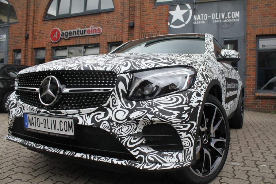 Mercedes GLC Coupé Digitaldruck-Vollfolierung matt Erlkönig Hamburg