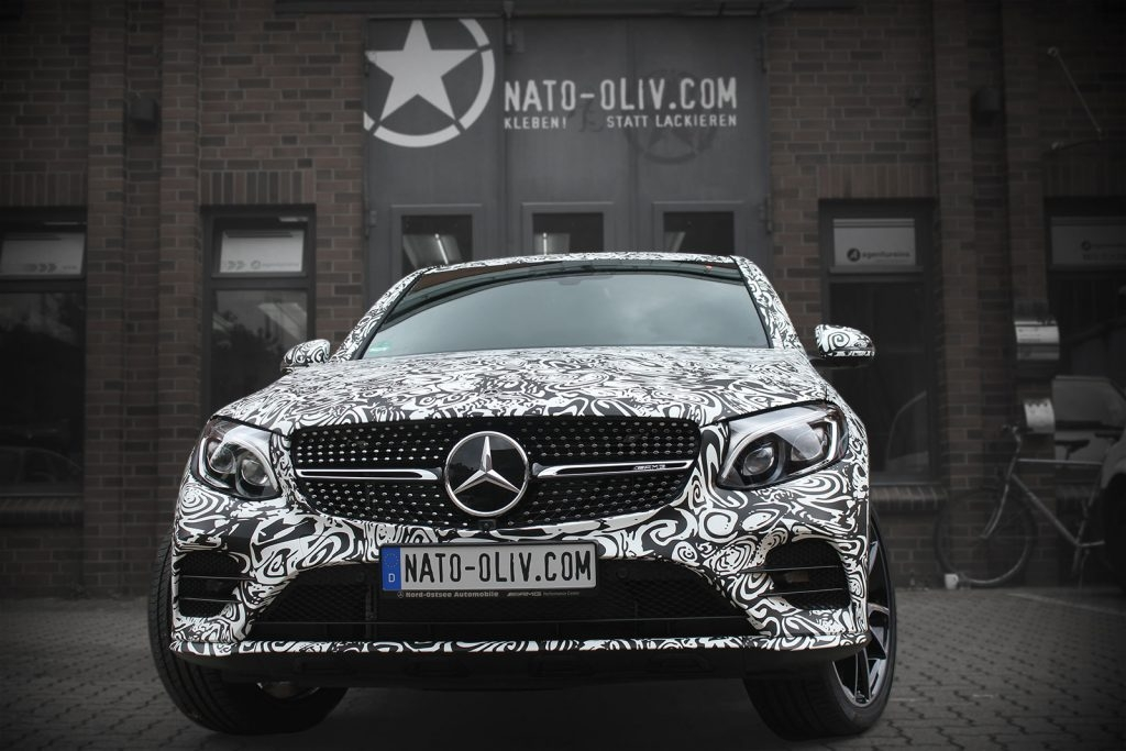 Mercedes GLC Coupé Car Wrapping Erlkönig Hamburg