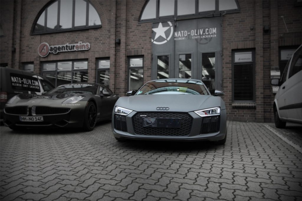 Audi R8 Premium Folierung Colourmatch dunkelgrau matt Hamburg