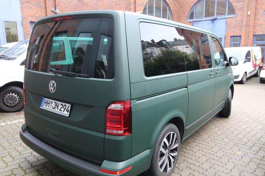 VW T6 Multivan British Racing Green Matt Premium Folierung Hamburg