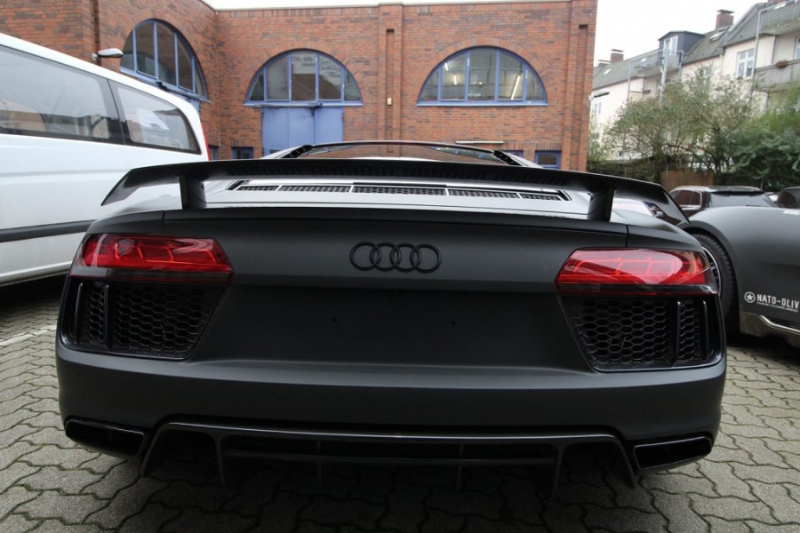 Audi R8 Autofolie Anthrazit Ultra Matt Hamburg