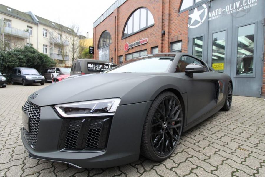 Audi R8 Premium Folierung Anthrazit Ultra Matt Hamburg