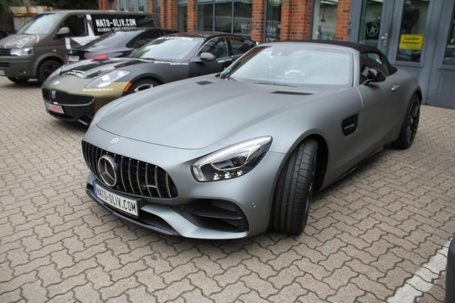 Mercedes AMG GT-C grau Matt Metallic Folierung Hamburg
