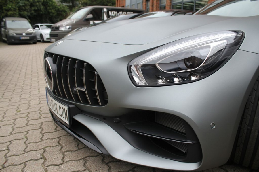 Mercedes AMG GT-C Avery anthracite Matt Metallic Car Wrapping Hamburg