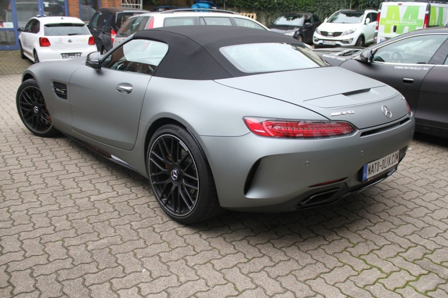 Mercedes AMG GT-C grau Matt Metallic Autofolie Hamburg