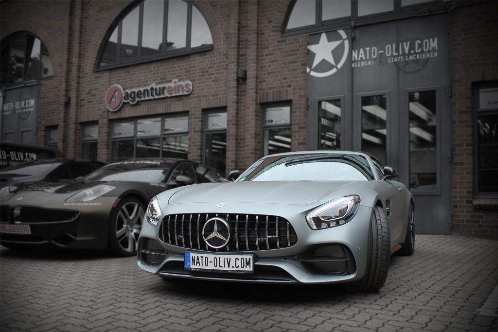 Mercedes AMG GT-C SWF Athrazit Matt Metallic Folierung Hamburg