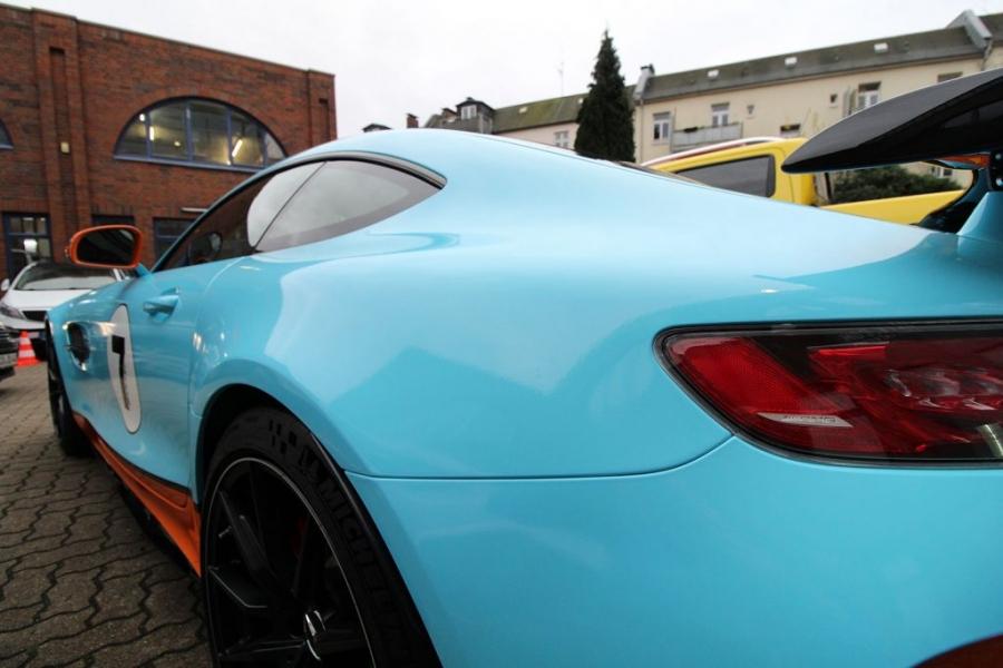 Mercedes AMG GT-R Gulf Design Folierung Hamburg