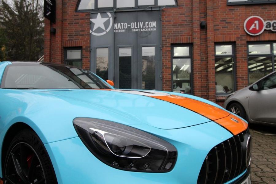 Mercedes AMG GT-R Gulf Design Premium Folierung Hamburg