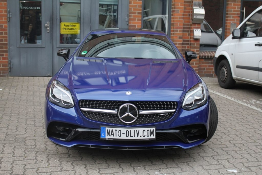 Mercedes Benz SLC 43 AMG blau metallic Folierung Hamburg