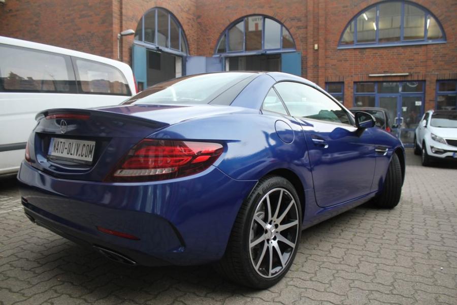 Mercedes Benz SLC 43 AMG Autofolie blau metallic glänzend Hamburg