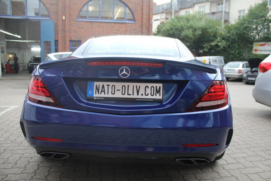 Mercedes Benz SLC 43 AMG blau metallic glänzend Hamburg