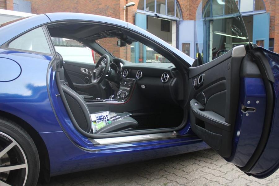 Mercedes Benz SLC 43 AMG Premium plus Folierung blau metallic glänzend Hamburg