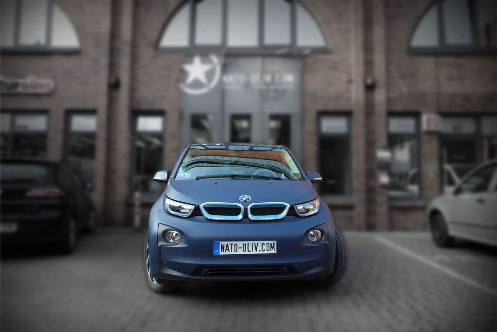 BMW i3 Premium Folierung in 3M dark navy matt Hamburg