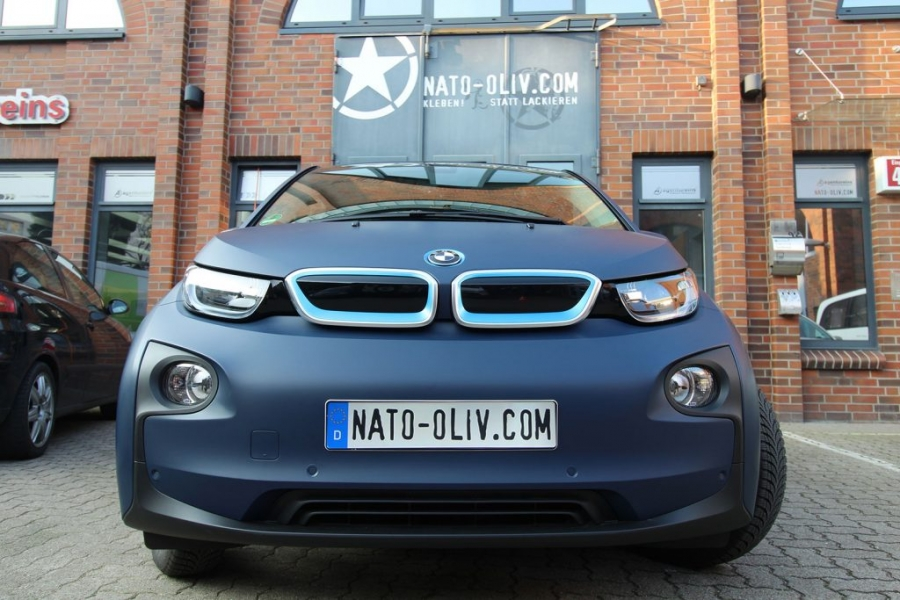 BMW i3 Premium Folierung in 3M dark navy Hamburg