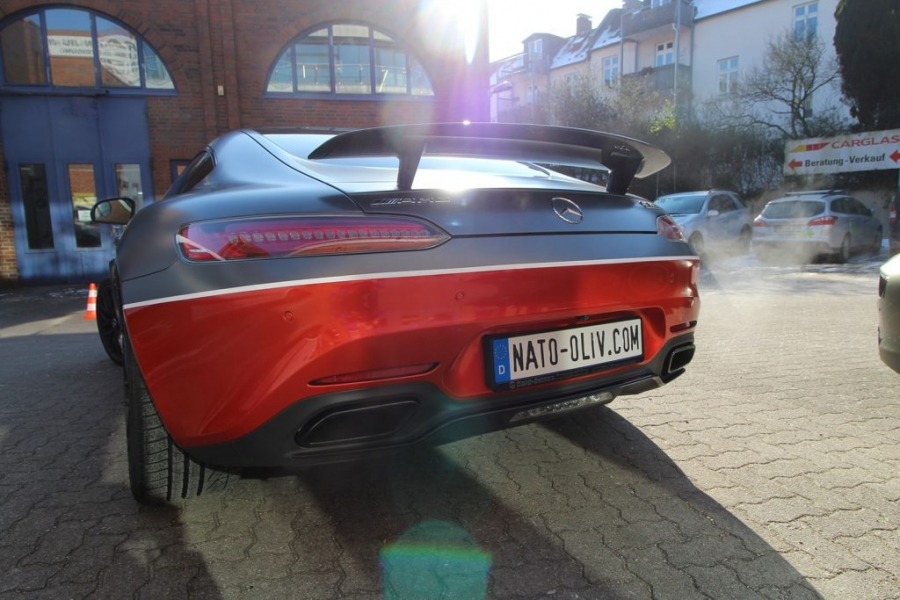 Mercedes AMG GTS rot Premium Folierung Hamburg