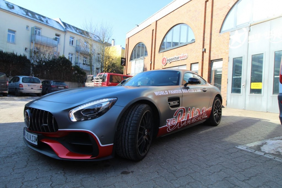 Mercedes AMG GT-S anthrazit matt metallic Teilfolierung Hamburg