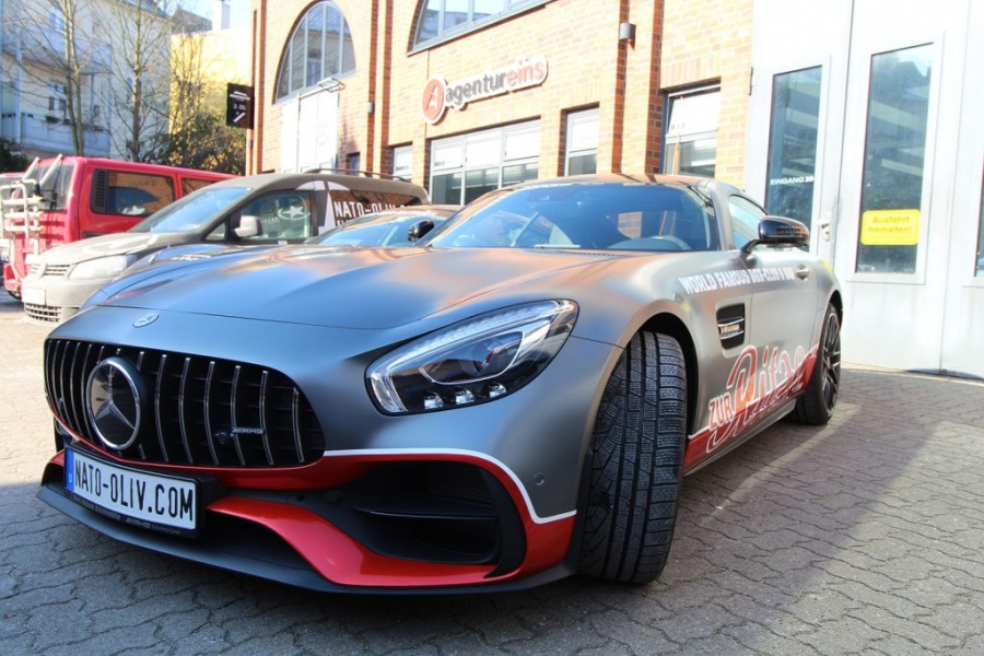 Mercedes AMG GT-S anthrazit matt metallic Premium Folierung Hamburg