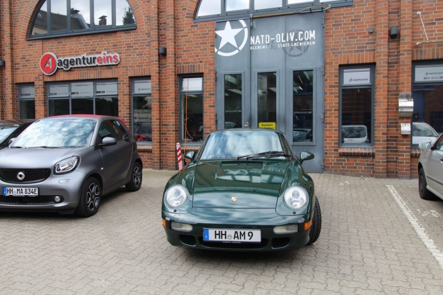 Porsche 993 Cabrio British Racing Green Vollfolierung Hamburg