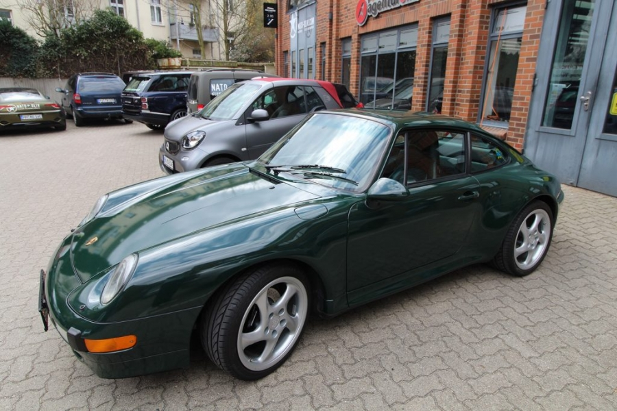 Porsche 993 Cabrio British Racing Green Auto foliert Hamburg