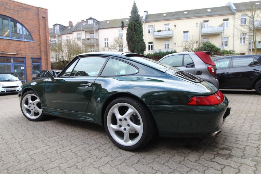 Porsche 993 Cabrio British Racing Green Folierung Hamburg